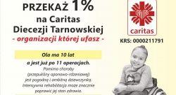1 proc. dla Caritas Diecezji Tarnowskiej